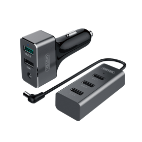 Unitek Y-P530A Car Charger (4x USB, 1x USB QC 3.0, 60 Watts)