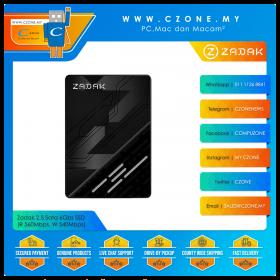 Zadak 2.5 Sata 6Gbs SSD (R 560Mbps, W 540Mbps)
