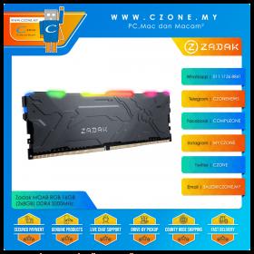Zadak MOAB RGB 16GB (2x8GB) DDR4 3200MHz - Black (ZD4-MO132C28-16GYG2)