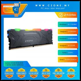 Zadak MOAB RGB 8GB (1x8GB) DDR4 3200MHz - Black (ZD4-MO132C28-08GYG1)